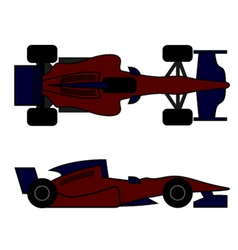 Racing car design vector image vector image