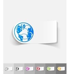 realistic design element globe vector image