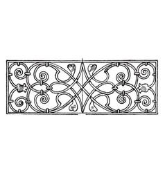 Renaissance oblong panel is an italian vector