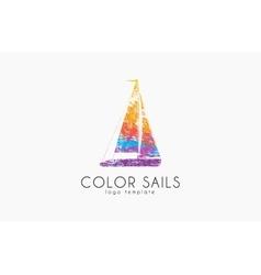 Sails logo color sails boat logo sailing logo vector