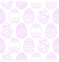 Seamless easter eggs background violet doodle vector