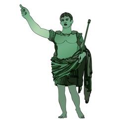 Statue of emperor gaius julius caesar vector