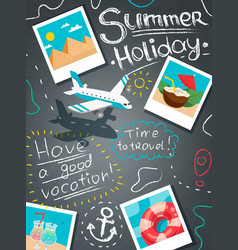 Summer holiday design concept vector