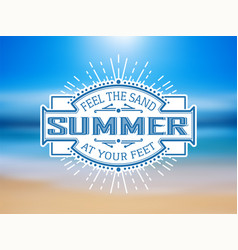 Vinatge summer label vector