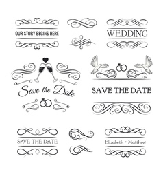 Vintage Ornaments - Collection of hand drawn vector image