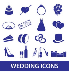 wedding icons set eps10 vector image vector image