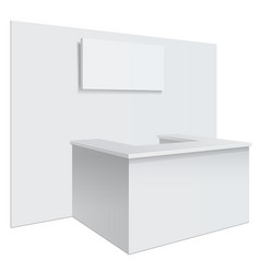 White reception or information desk vector
