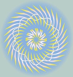 spring sun design vector image