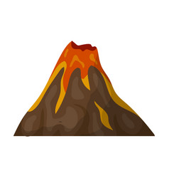 A fiery volcanoa mountain in which there is a vector