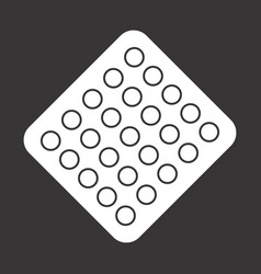 Pill blister pack icon vector