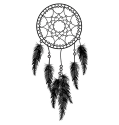 Black dream catcher vector