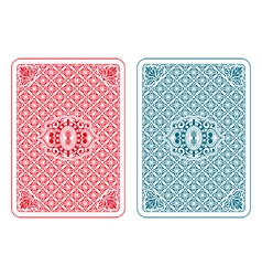 Playing cards back beta vector image