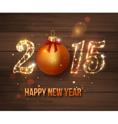 Happy new year 2015 celebration concept on wooden vector
