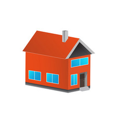 3d colorful house concept house flat icon design vector
