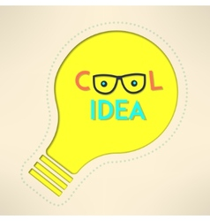 Light bulb cool idea with googles background vector