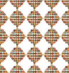 Seamless pattern shape with circles vector