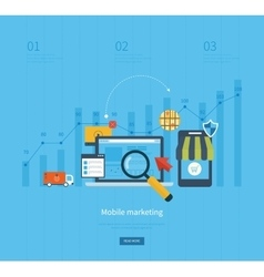 Icons for mobile marketing online shopping vector