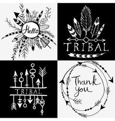 Design elements in tribal style vector