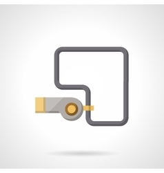 Whistle flat color icon vector