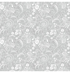 Seamless gentle gray-white floral pattern vector