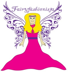 Fairy fashionista vector