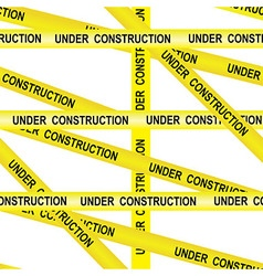 Under construction caution tape entrance vector
