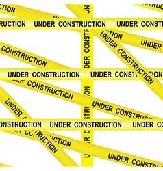 Under construction caution tape entrance vector