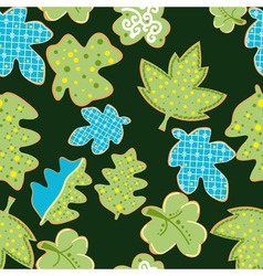 Seamless retro leafs pattern vector