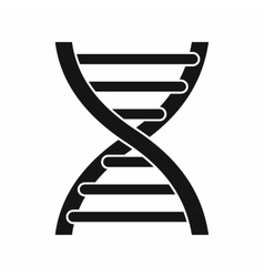 Dna icon simple style vector