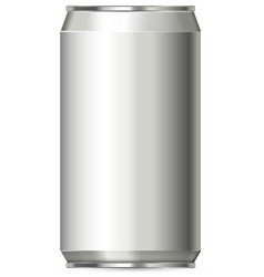 Aluminum can design without label vector