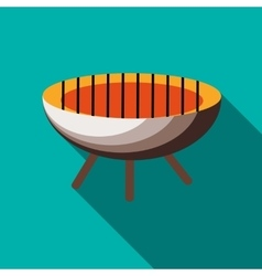 Barbecue icon in flat style vector image