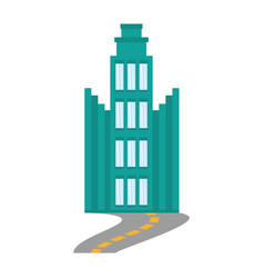 Building architecture modern road vector