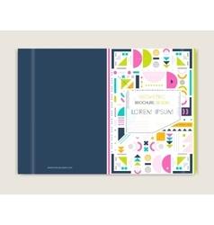 Cover design for brochure leaflet flyer modern vector