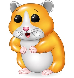 Cute hamster posing isolated on white background vector