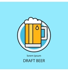 Draft beer logo template vector image vector image