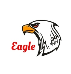 Eagle head mascot for sporting design vector image
