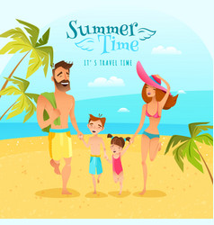 Family season summer vector