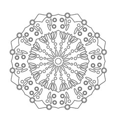 Floral mandala isolated on white background vector
