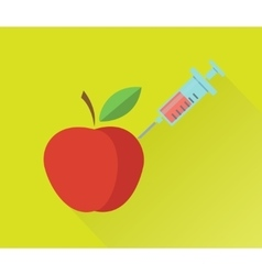 Genetically modified fruits concept vector