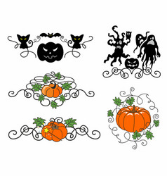 halloween items vector image vector image