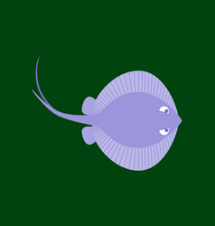 In flat style ramp fish vector