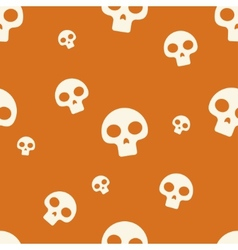 Orange Small Skull Pattern vector image vector image