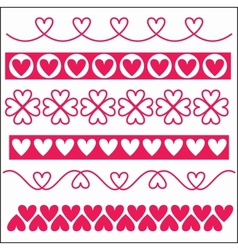 Ornaments with hearts vector