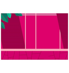 Pink Wall Pattern vector image vector image