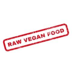 Raw Vegan Food Rubber Stamp vector image vector image