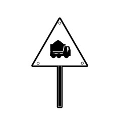 sign dump truck vector image