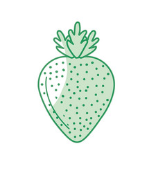 Silhouette delicious and healthy strawberry fruit vector