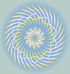 spring sun design vector image vector image