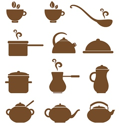 Icons kitchen vector