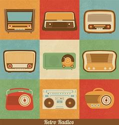Retro radios vector